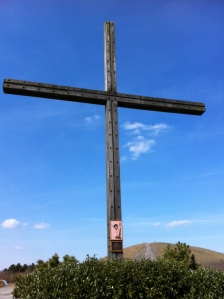 Gipfelkreuz der Halde Haniel