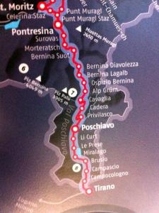 Pontresina, mein erstes Ziel für heute