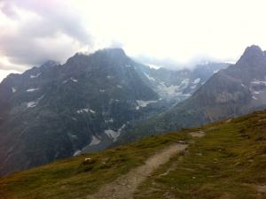 Auf dem Downhill nach La Fouly