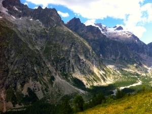 Eindrucksvolle Bergwelt im Aostatal