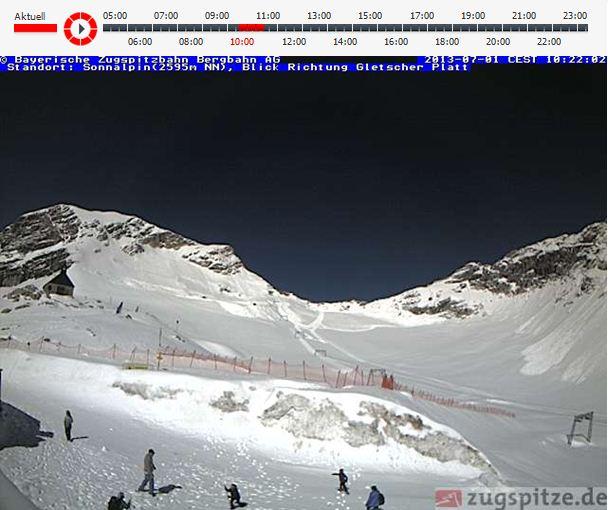 Die Zugspitze im Juli 2013 - Skifahren statt laufen!