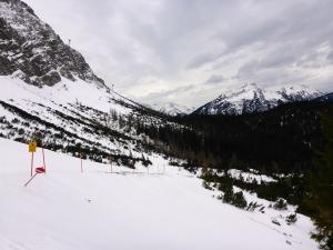 Einstieg in die Skiabfahrt