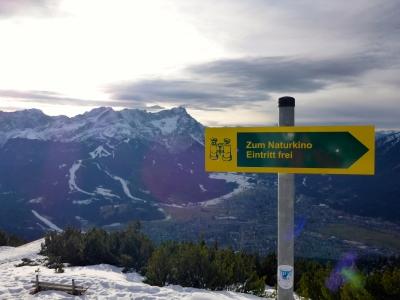 Naturkino mit Zugspitze im Hauptprogramm